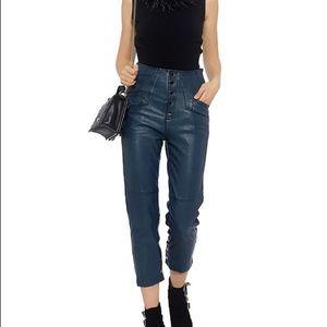 Marissa Webb Leather High Rise Cropped Pants EUC!